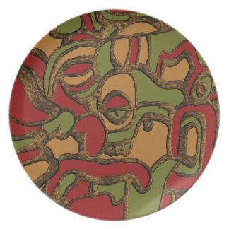 Prato De Festa Design inspirado Maya