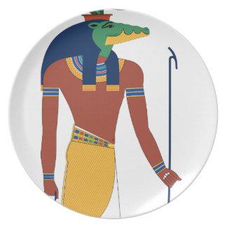 Prato De Festa Deus do crocodilo de Sobek