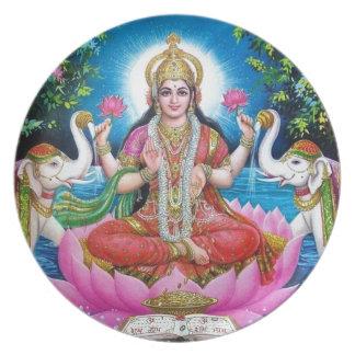 Prato De Festa Deusa de Lakshmi de amor, de prosperidade, e de