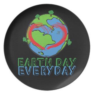 Prato De Festa Dia da Terra: Mantenha o verde & o reciclado da