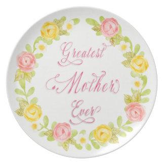Prato De Festa Dia das mães - arte bonito da palavra dos rosas 3