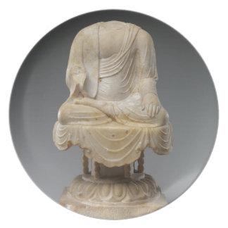 Prato De Festa Dinastia decapitado de Buddha - de Tang (618-907)