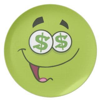 Prato De Festa Dinheiro feliz Emoji