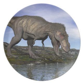Prato De Festa Dinossauro do rex do tiranossauro - 3D rendem
