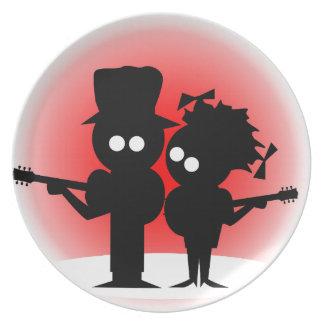 Prato De Festa Duo da guitarra