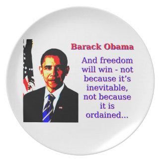 Prato De Festa E a liberdade ganhará - Barack Obama