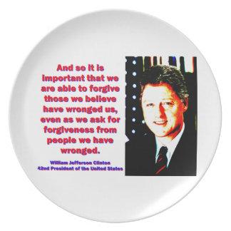 Prato De Festa E assim é importante - Bill Clinton