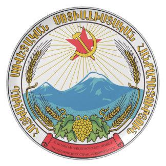 Prato De Festa Emblema da república socialista soviética arménia