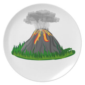 Prato De Festa erupção do fogo do vulcão