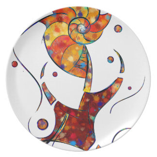 Prato De Festa Espanessua - flor espiral imaginária