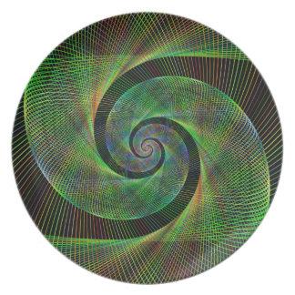 Prato De Festa Espiral verde