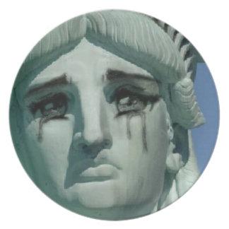 Prato De Festa Estátua da liberdade de grito