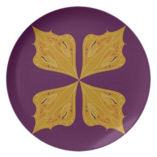 Prato De Festa Ethno do vinho do ouro da mandala do design