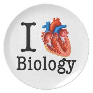 Prato De Festa Eu amo a biologia