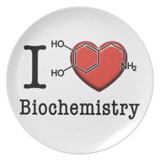 Prato De Festa Eu amo a bioquímica