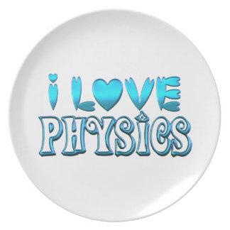 Prato De Festa Eu amo a física