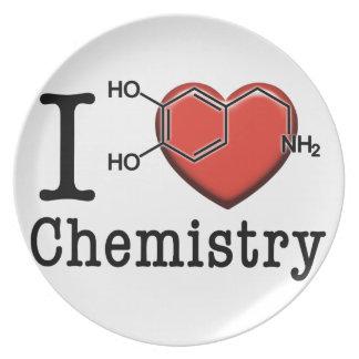 Prato De Festa Eu amo a química