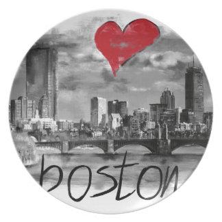 Prato De Festa Eu amo Boston