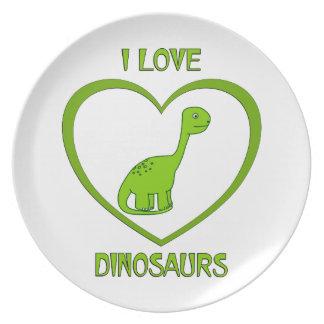 Prato De Festa Eu amo dinossauros