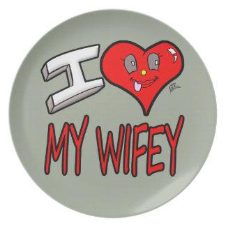 Prato De Festa Eu amo meu Wifey