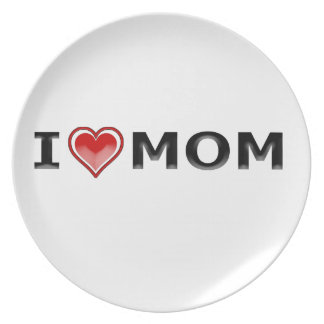 Prato De Festa Eu amo minha mamã