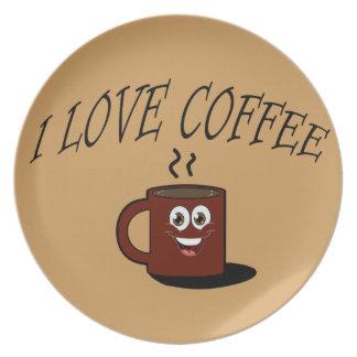 Prato De Festa Eu amo o café