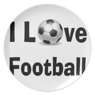 Prato De Festa Eu amo o futebol
