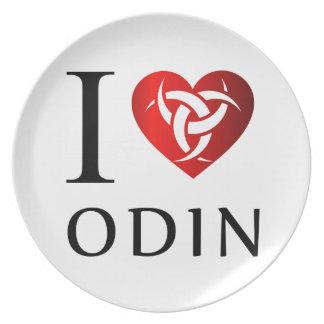 Prato De Festa Eu amo Odin