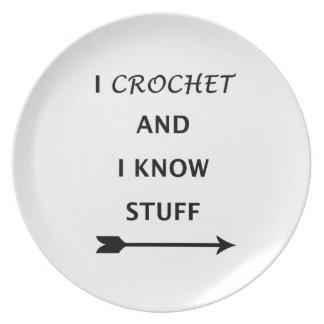 Prato De Festa Eu Crochet e eu sei o material