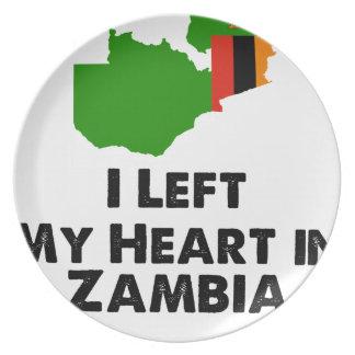 Prato De Festa Eu deixei meu coração na Zâmbia