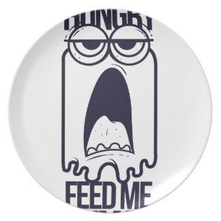 Prato De Festa eu estou com fome alimento-me humano