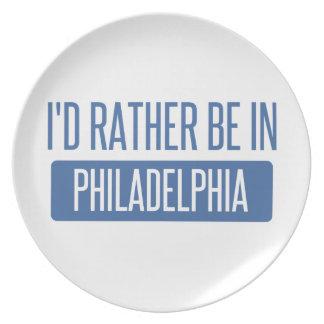 Prato De Festa Eu preferencialmente estaria em Philadelphfia