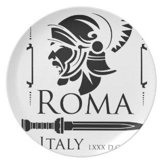 Prato De Festa Exército romano - Legionary com Gladio