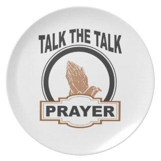 Prato De Festa Fale a oração da conversa