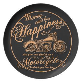 Prato De Festa Felicidade - motocicleta