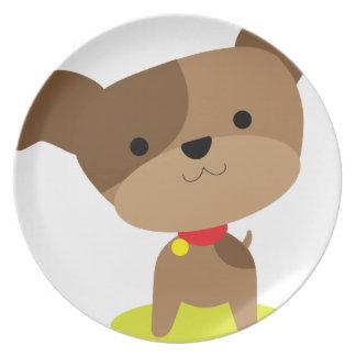 Prato De Festa filhote de cachorro marrom pequeno