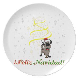 Prato De Festa Filhotes de cachorro do Natal