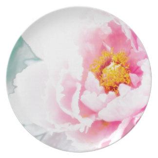 Prato De Festa Flor cor-de-rosa chave alta da peônia