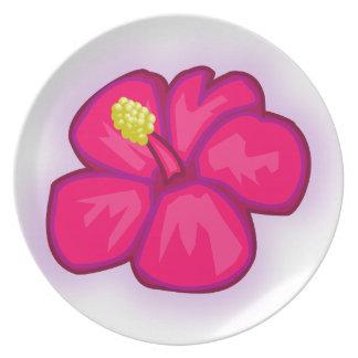Prato De Festa Flor cor-de-rosa de Havaí