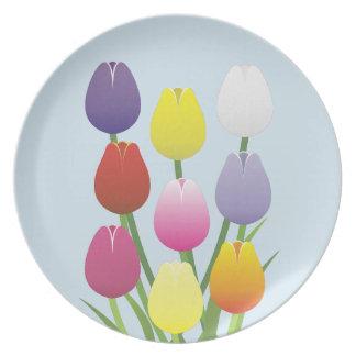 Prato De Festa Flor da tulipa