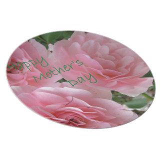 Prato De Festa Flores felizes do dia das mães