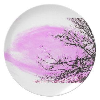 Prato De Festa Floresta cor-de-rosa - placa de comensal por Jane