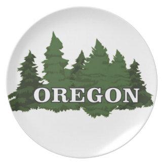 Prato De Festa Floresta de Oregon