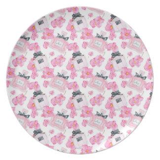 Prato De Festa Forma cor-de-rosa Parfume das flores