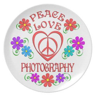 Prato De Festa Fotografia do amor da paz