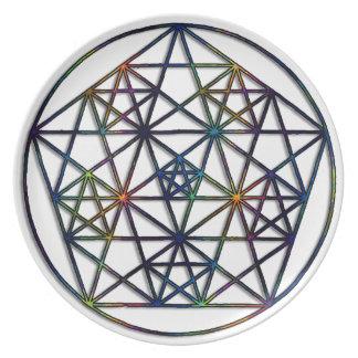 Prato De Festa Fractal sagrado da geometria da abundância da vida