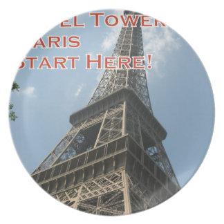 Prato De Festa Francês do verão 2016 de Paris France da torre