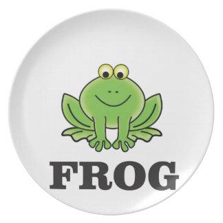 Prato De Festa frogger do sapo