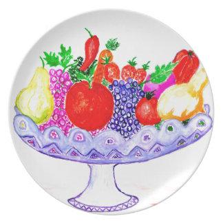 Prato De Festa Fruta na arte do vaso