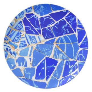 Prato De Festa Fundo azul abstrato